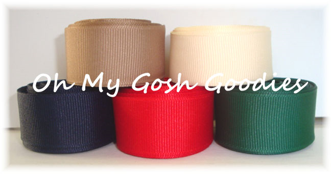 7/8 SOLID GROSGRAIN RIBBON MIX R27 - 25 YARDS